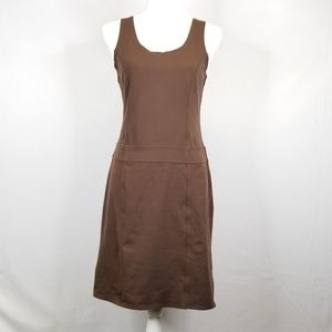Athleta Scoop Neck Brown Tank Dress
